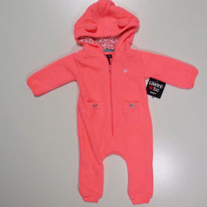 *Brand New* Limited Too Salmon Winter Onsie (12M)